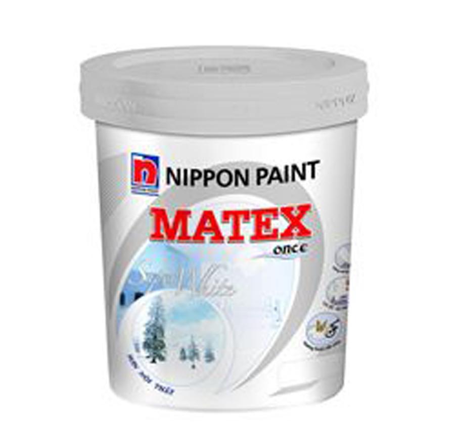 Sơn nội thất Nippon Matex Supper White (Siêu Trắng) 18L