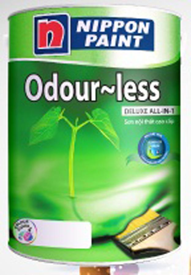 Sơn phủ nội thất Nippon Odourless bóng (không mùi) 5L