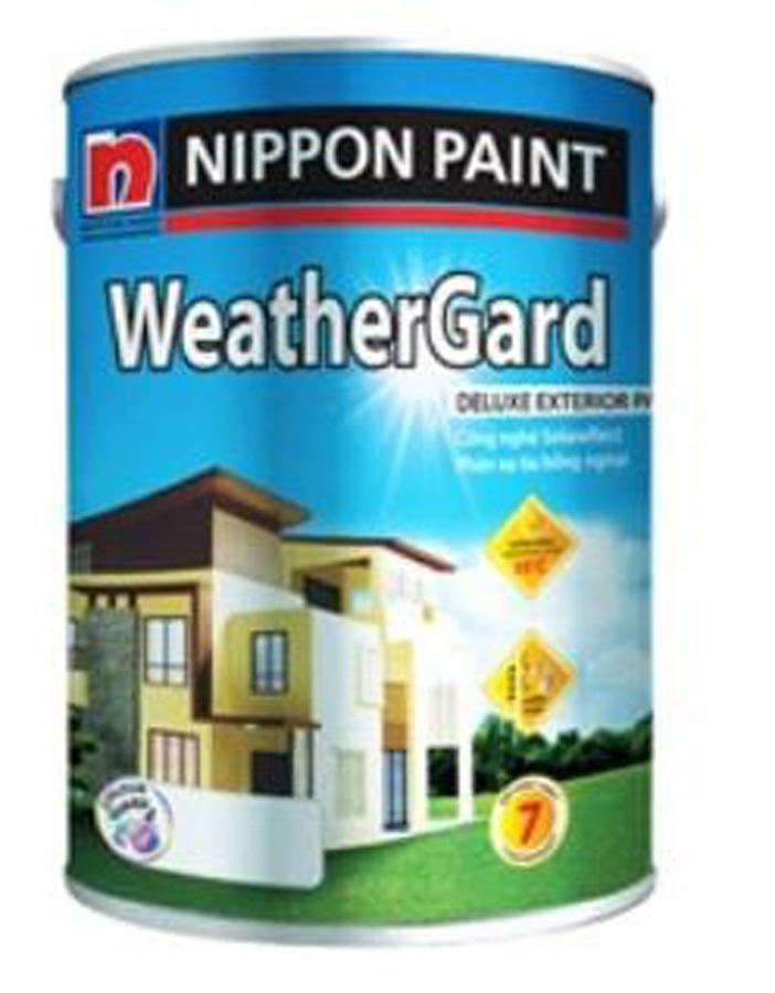 Sơn phủ ngoại thất Nippon Weather Grard bóng màu chuẩn 18L
