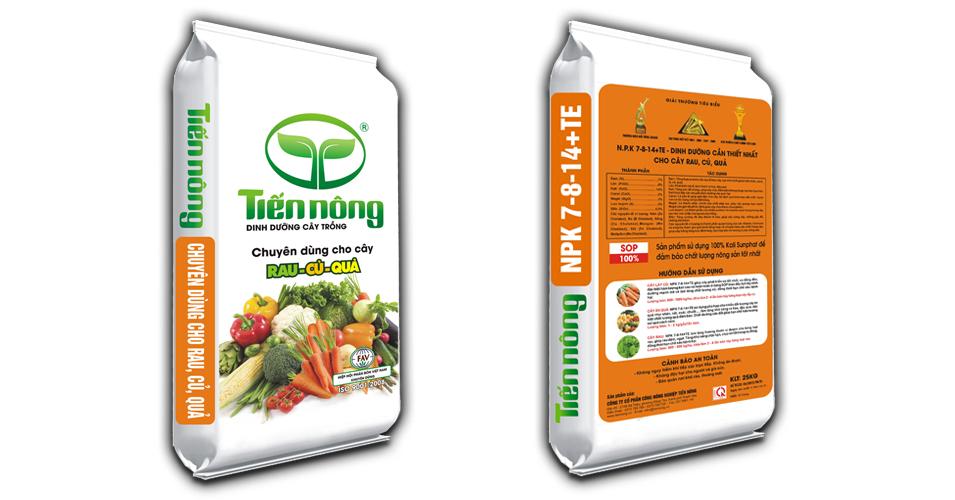 Phân bón dinh dưỡng rau củ quả