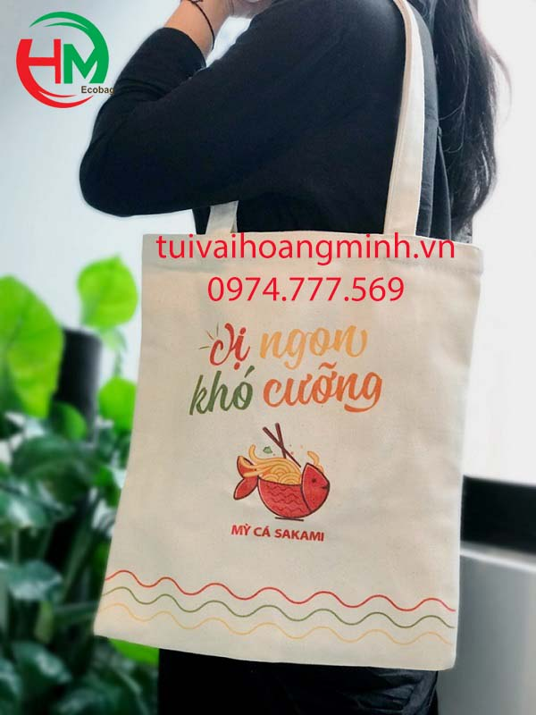 Túi vải bố mỳ cá sakami