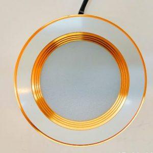 Đèn âm trần siêu bền viền vàng 9w TLC