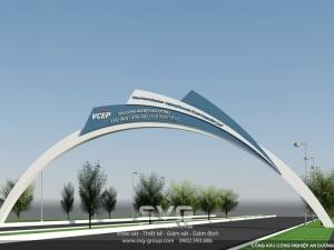 Thiết kế cổng thép KCN An Dương (VCEP)