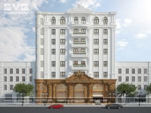 Thiết kế khách sạn tân cổ điển 9 tầng