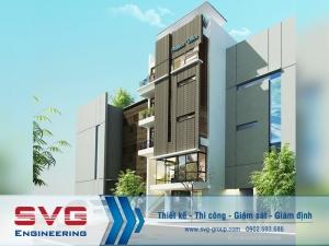 Thiết kế tòa nhà văn phòng 5 tầng