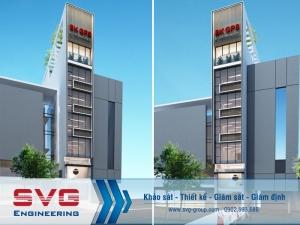 Thiết kế nhà ở kết hợp văn phòng 8 tầng