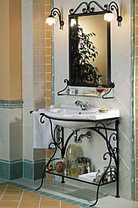 Mobili da bagno in ferro battuto decora la tua vita - Mobili da giardino in ferro battuto ...