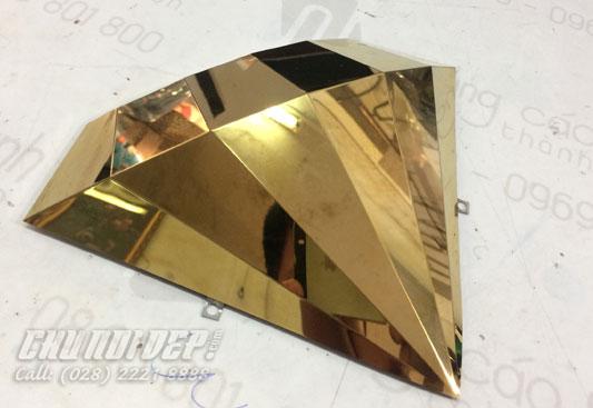 Kim cương inox vàng