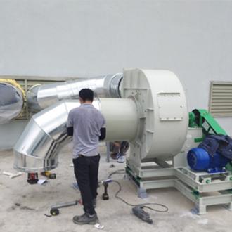 Hệ thống ống gió quạt hút