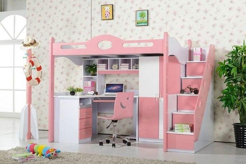 Giường tầng kết hợp với bàn học