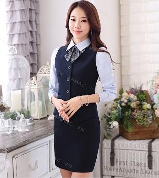 Đồng phục áo gile nữ công sở