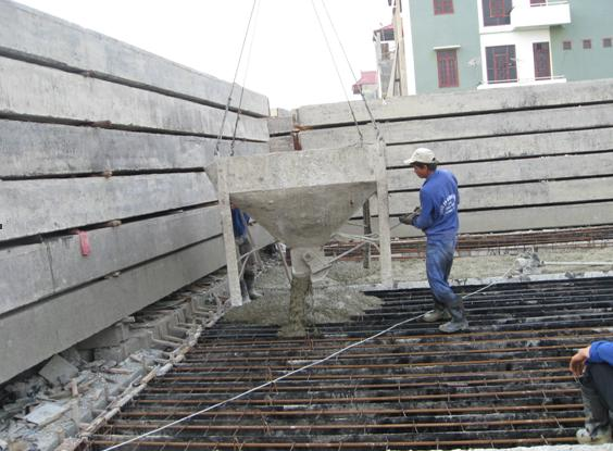 Đúc cọc bê tông cốt thép
