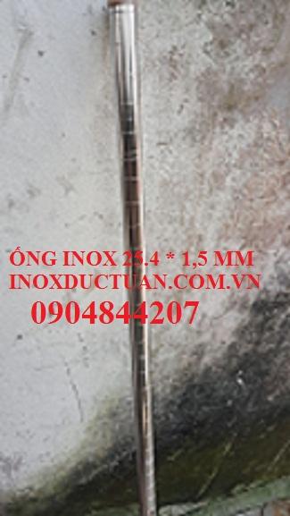 ỐNG INOX 25.4  1.5 MM