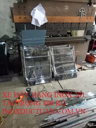 XE ĐẨY HÀNG INOX 201 TẢI TRỌNG 400 KG