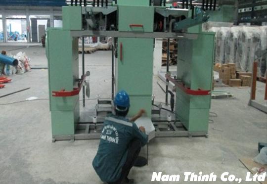 Lắp đặt cân chỉnh hệ thống máy se sợi