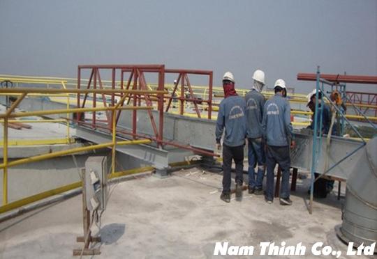 Thi công hệ thống bồn dầu cá