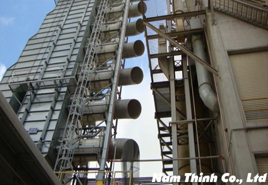 Thi công hệ thống tháp sấy 500M3