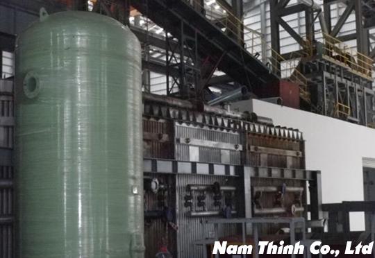 Thi công tháp nước 30M hệ thống ống khí điều khiển