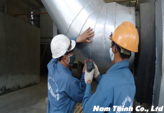 Thi công ống khí - bảo ôn cách nhiệt
