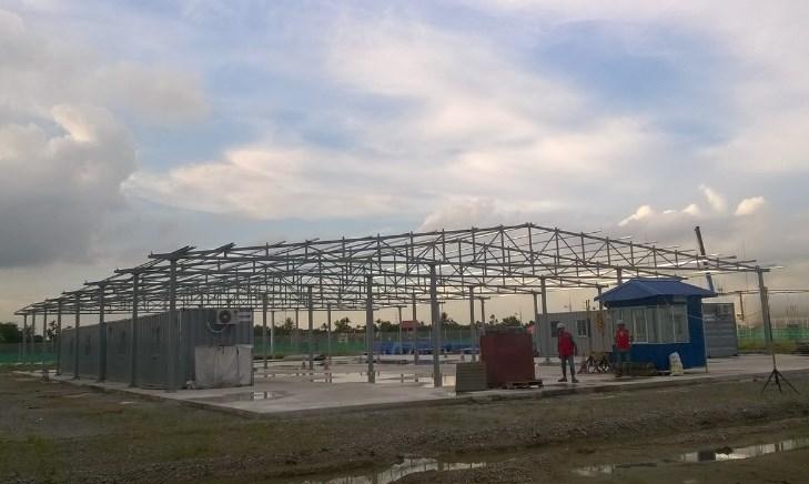 Gia công lắp dựng kết cấu nhà kho