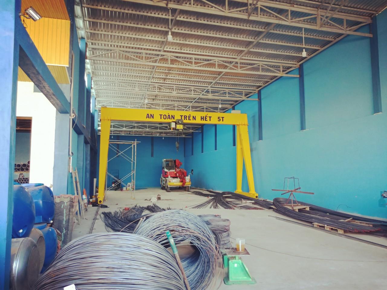Thiết kế lắp đặt cổng trục dầm đơn 5 tấn tại Bạc Liêu