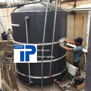 Bọc phủ composite bồn nhựa PVC