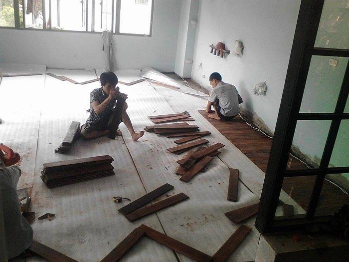 Thi công hạng mục sàn gỗ công nghiệp