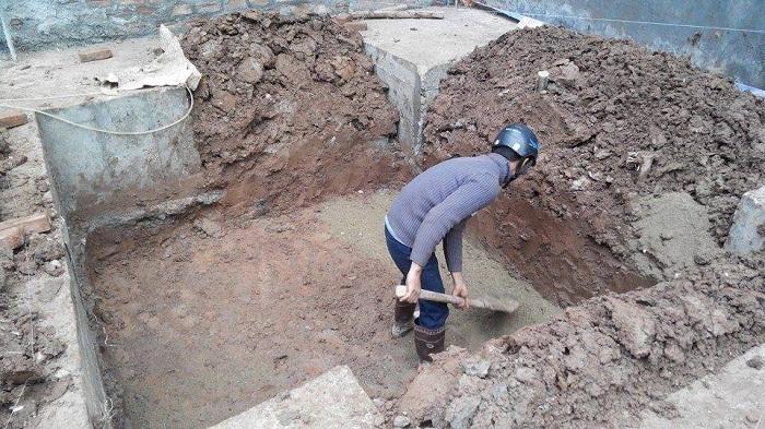 Sửa hố bể nước