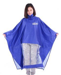 Áo mưa quảng cáo cánh dơi vải PVC