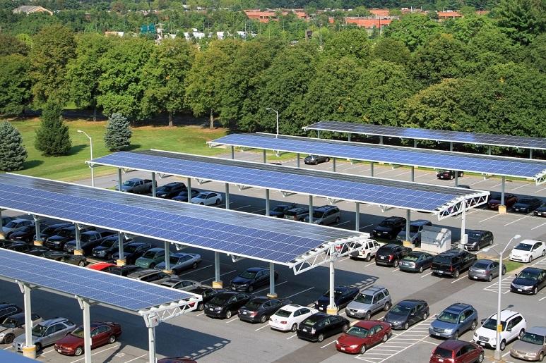 Điện mặt trời nhà để xe
