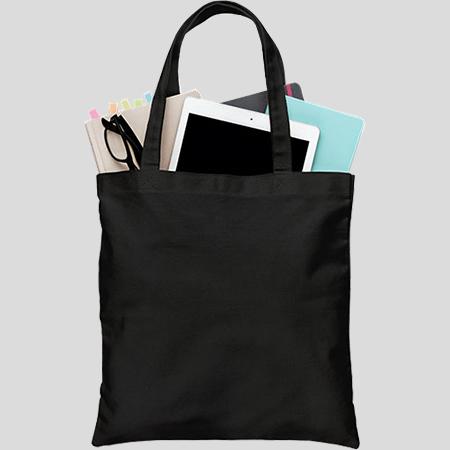 Túi canvas đen trơn có khóa kéo