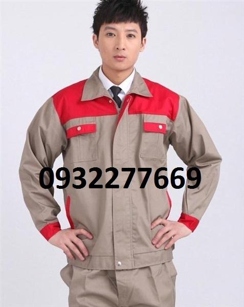 Quần áo ghi phối đỏ vải pangzim