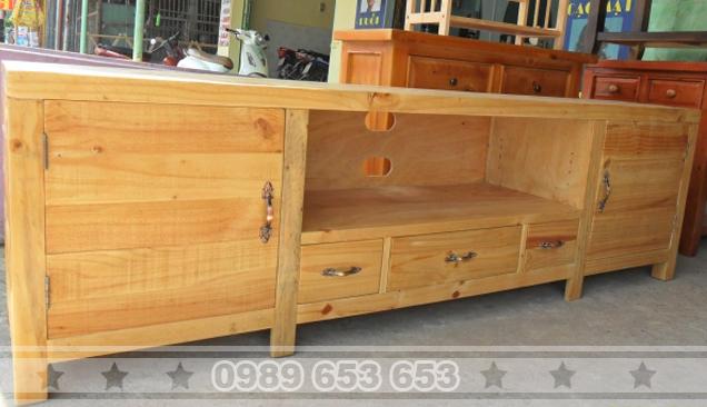 Kệ tivi gỗ thông