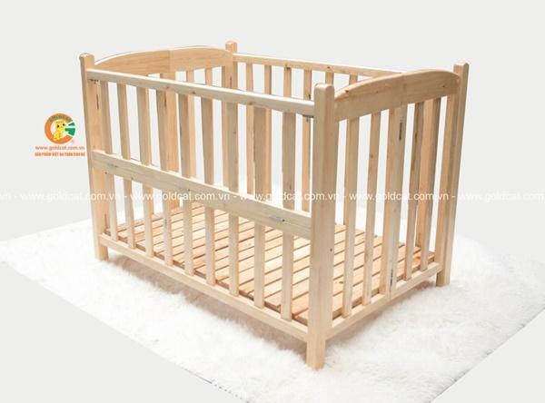 Cũi giường gỗ Quế Mộc