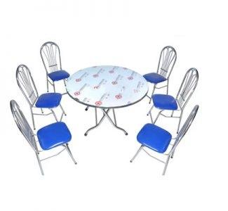 Bộ bàn ăn inox tròn