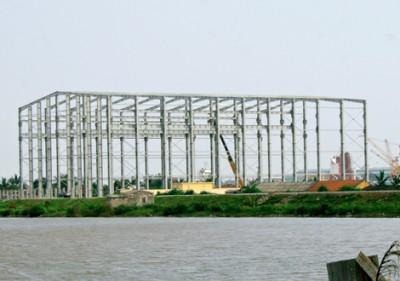 Thi công nhà máy sửa chữa tàu chiến đấu X46