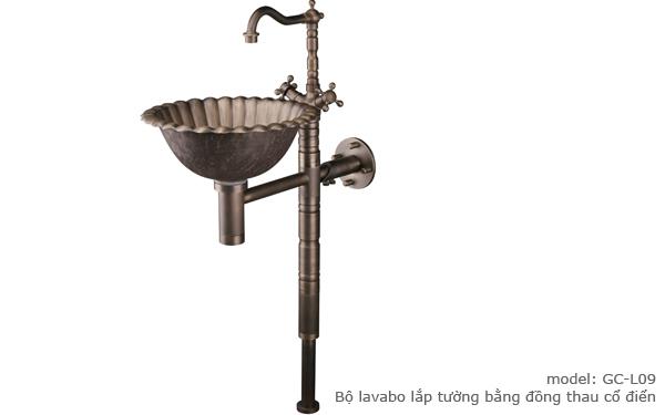 Bộ lavabo đồng GCL09B