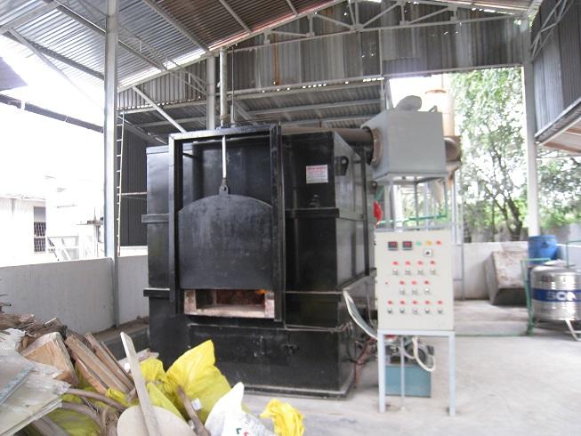 Lò đốt rác thải công nghiệp 100kg