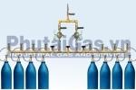 Cụm chai khí O2, N2, Ar công nghiệp