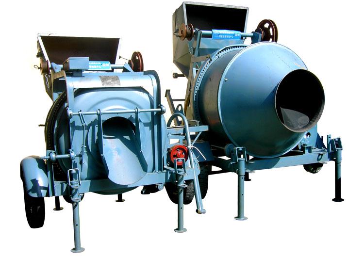 Máy trộn tự hành JZC350 gắn động cơ ĐIỆN