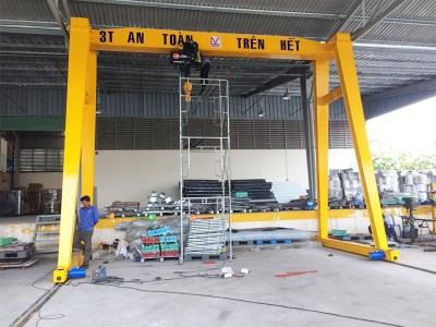 Lắp đặt cổng trục 3 tấn