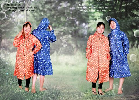 Áo mưa măng tô thời trang