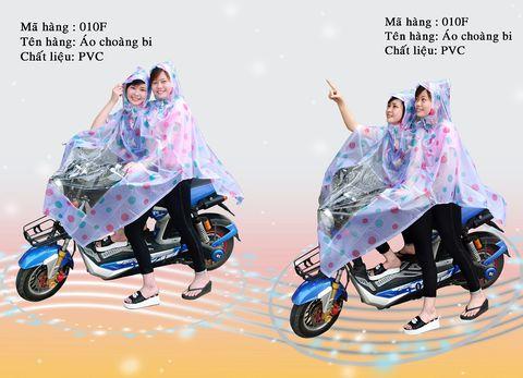Áo mưa chấm bi chất liệu PVC