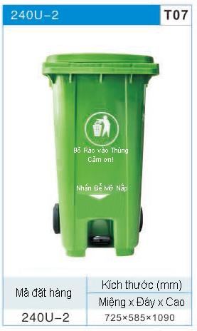 Thùng rác có bàn đạp