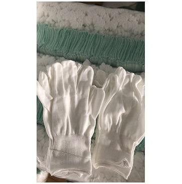 Găng tay thun trắng