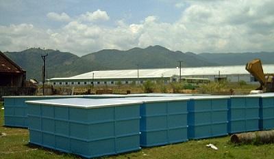 Bồn nuôi trồng thủy hải sản composite