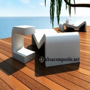 Bàn ghế thư giãn composite