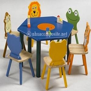 Bàn ghế composite trường mẫu giáo