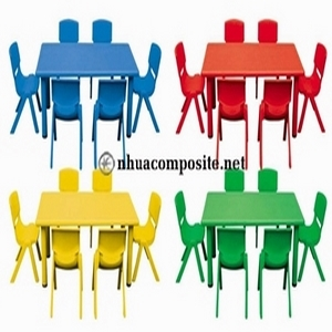 Bàn ghế composite trường mầm non