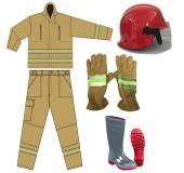 Bộ áo quần, găng tay, ủng, nón chuyên phòng cháy chữa cháy